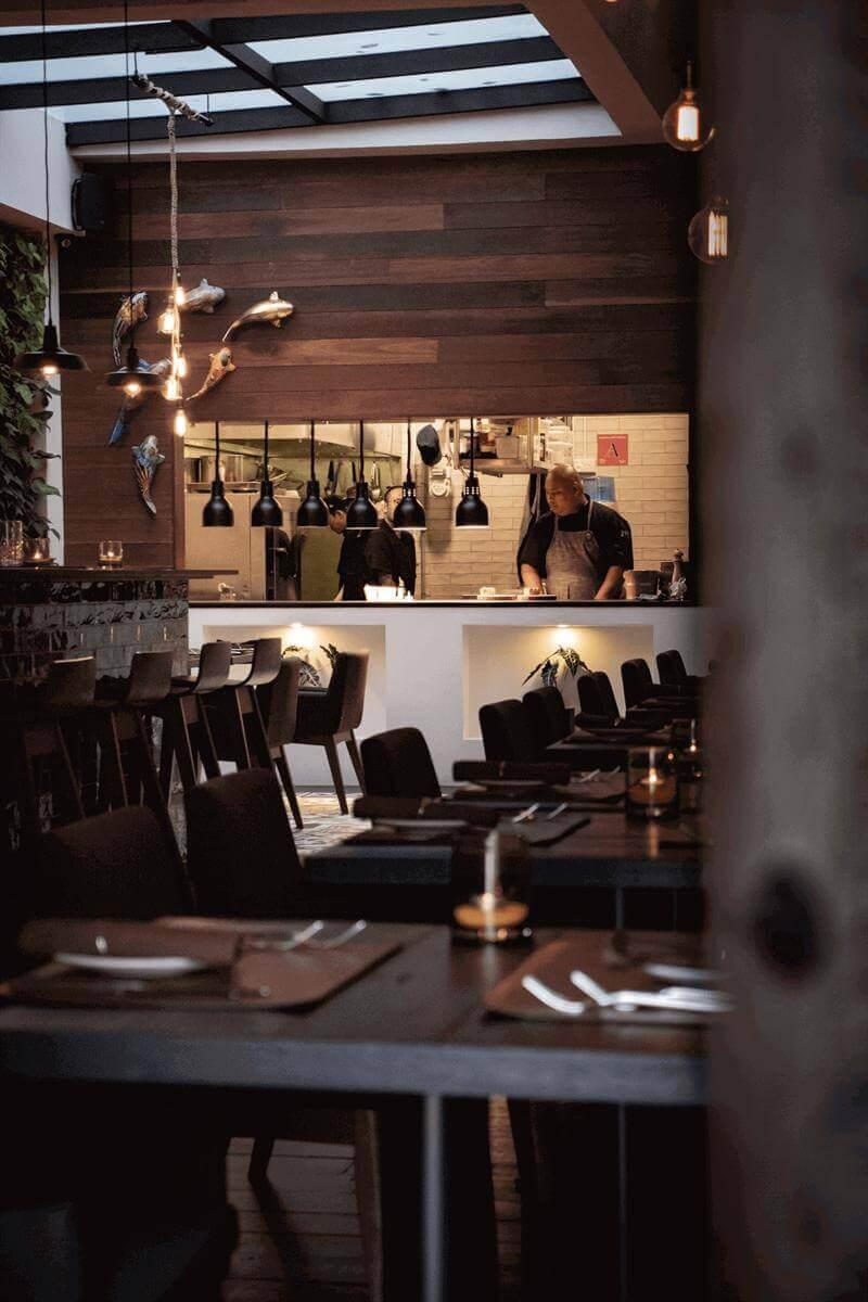 Modern Chic European Restaurant For Sale