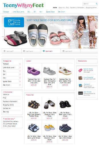 Established Kids Shoes Website