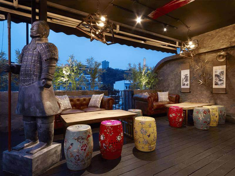 Contemporary Asian Rooftop Bar For Sale!